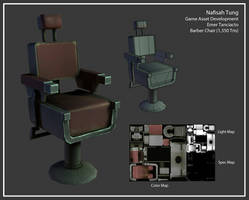3D- Barber's Chair by Dyemelikeasunset
