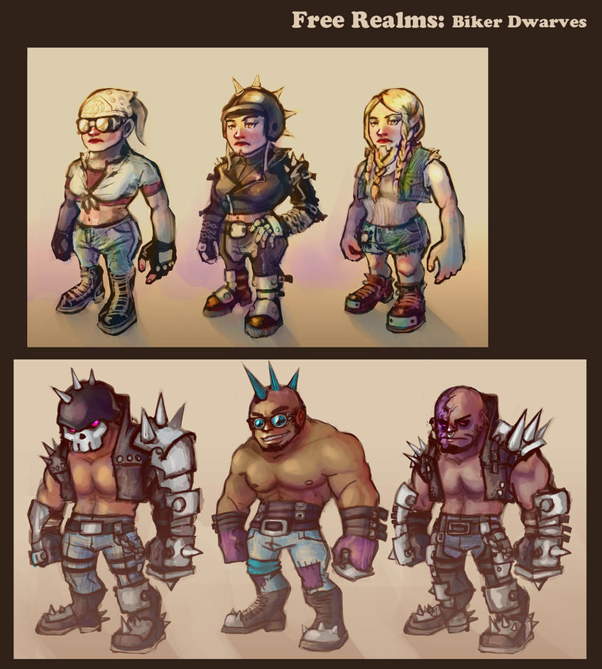 Free Realms: Biker Dwarves by Tyshea
