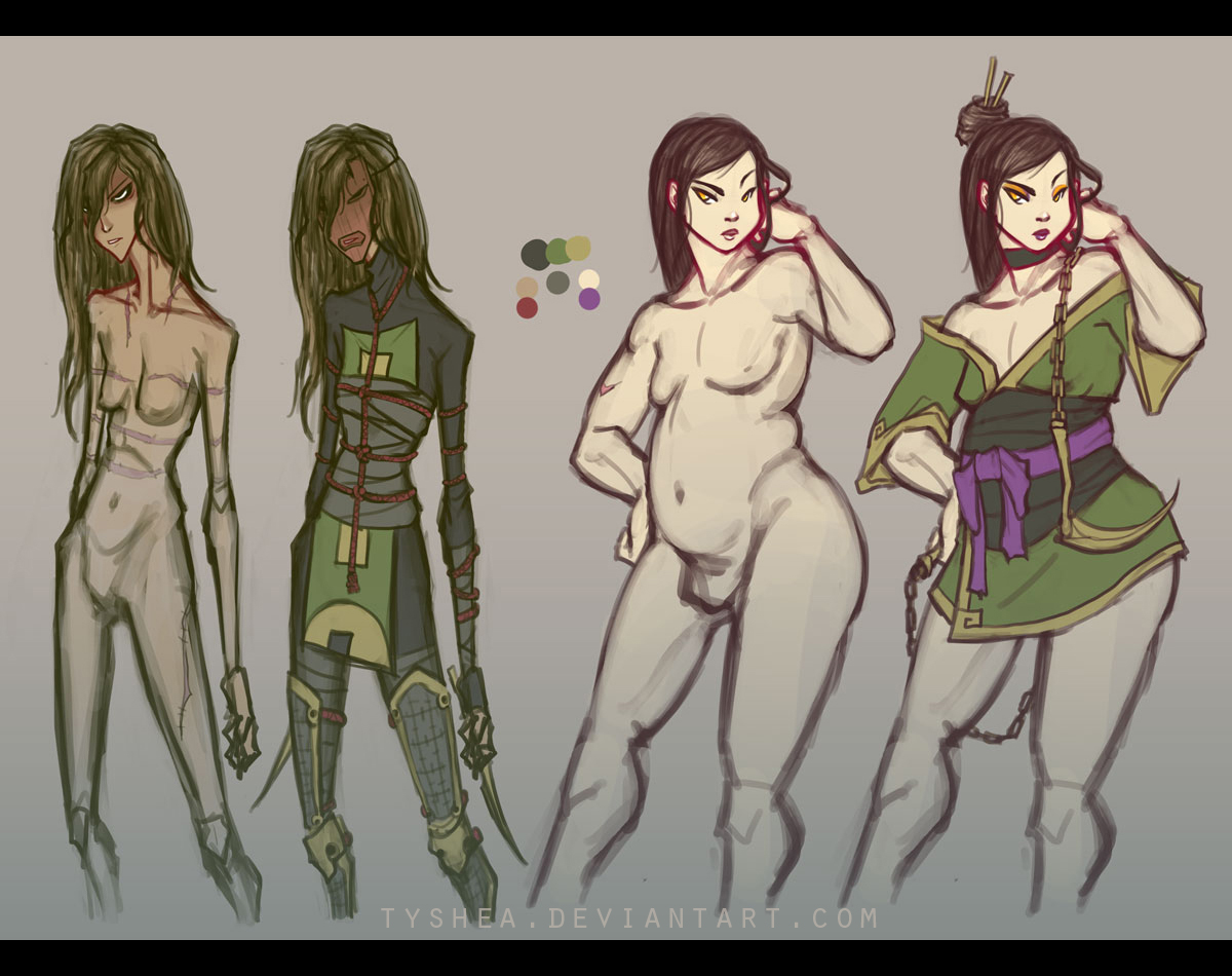 A:CtS Character Study [SHANI and HIU] by Tyshea