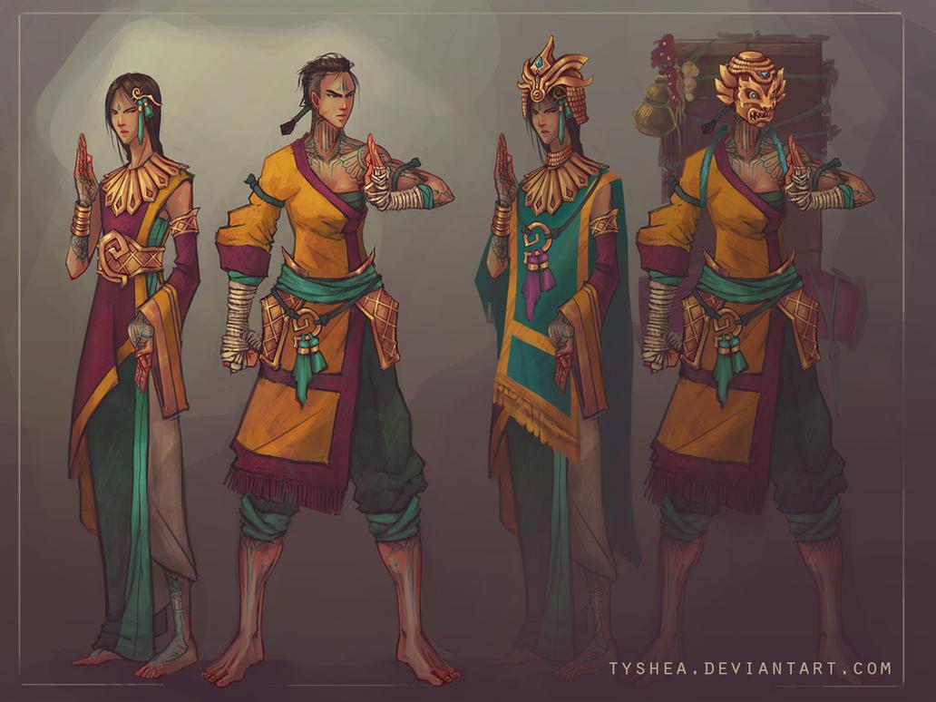 Imori and Aseri full body by Tyshea