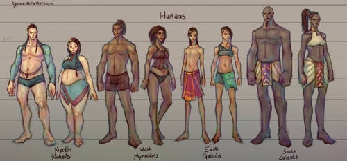 Fantasy Races: [1/4] Humans by Dyemelikeasunset