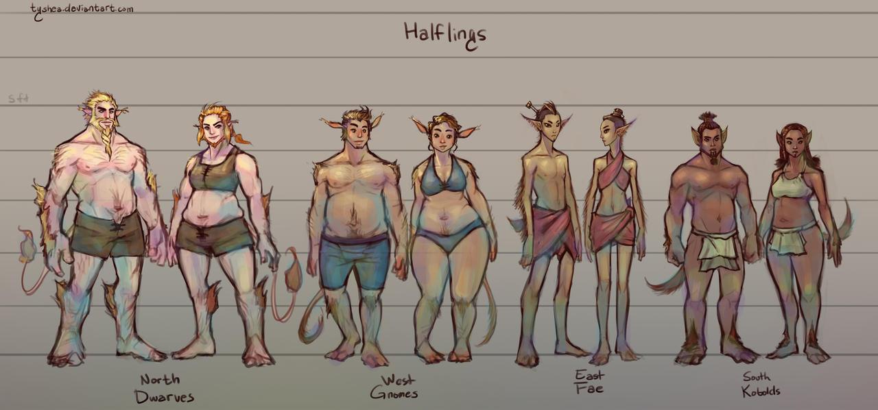 Fantasy Races: [3/4] Halflings by Tyshea