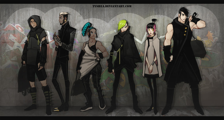 A:CtS Cyberpunk AU by Tyshea