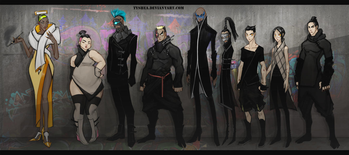 A:CtS Cyberpunk AU Again by Tyshea