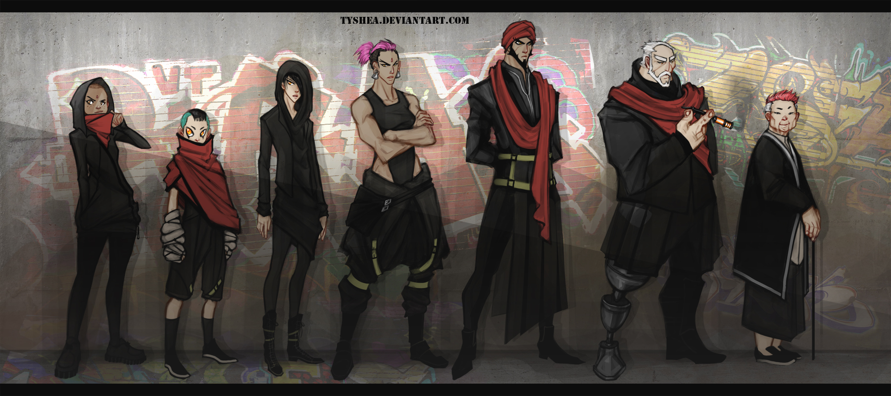 A:CtS Cyberpunk AU ONE LAST TIME by Tyshea