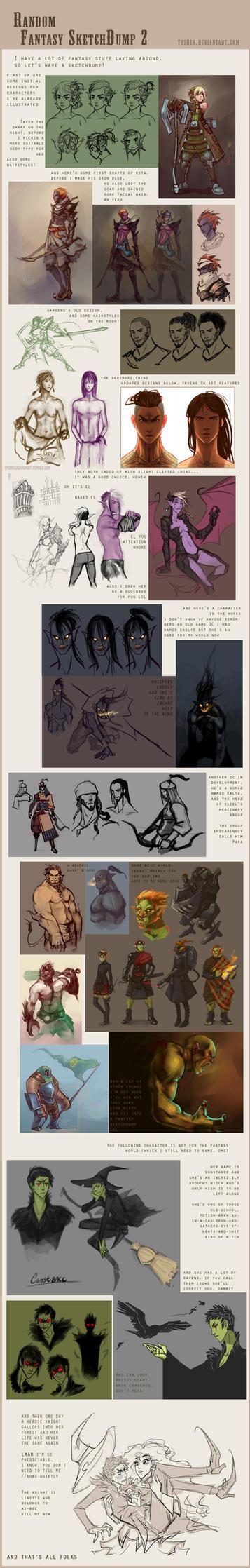 Fantasy Sketchdump by Dyemelikeasunset