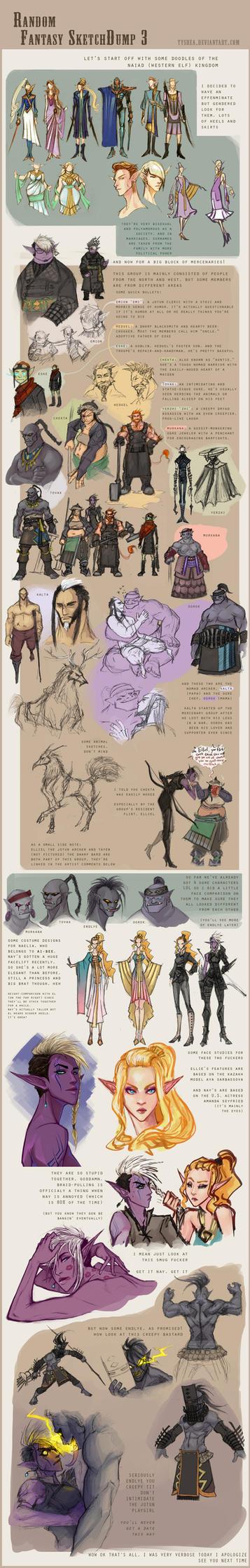 Fantasy Sketchdump 3 by Tyshea