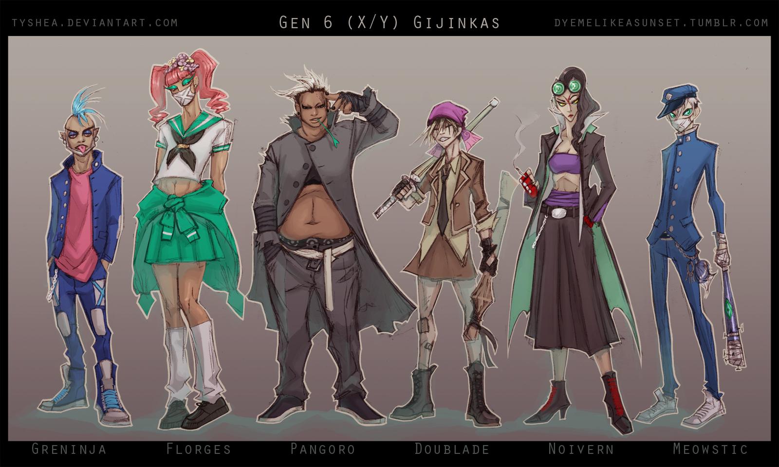 PKMN: Gen 6 Gijinkas by Tyshea