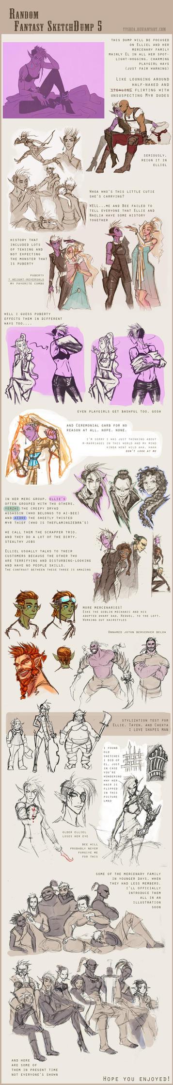 Fantasy Sketchdump 5 by Dyemelikeasunset