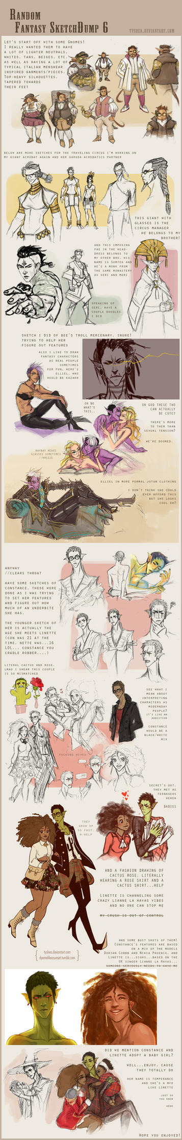 Fantasy Sketchdump 6 by Dyemelikeasunset