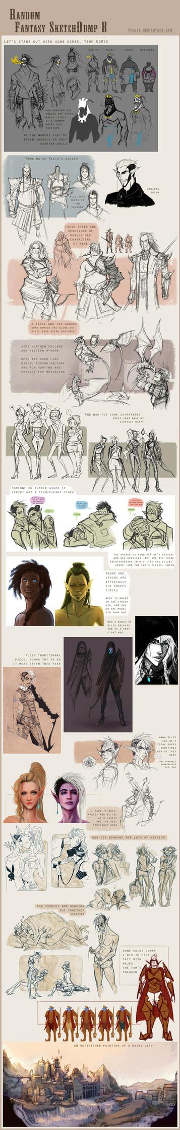 Fantasy Sketchdump 8 by Dyemelikeasunset