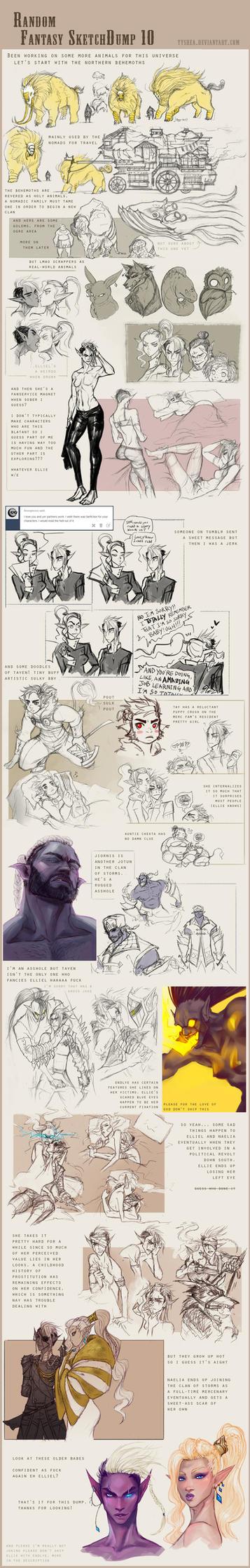 Fantasy Sketchdump 10 by Dyemelikeasunset