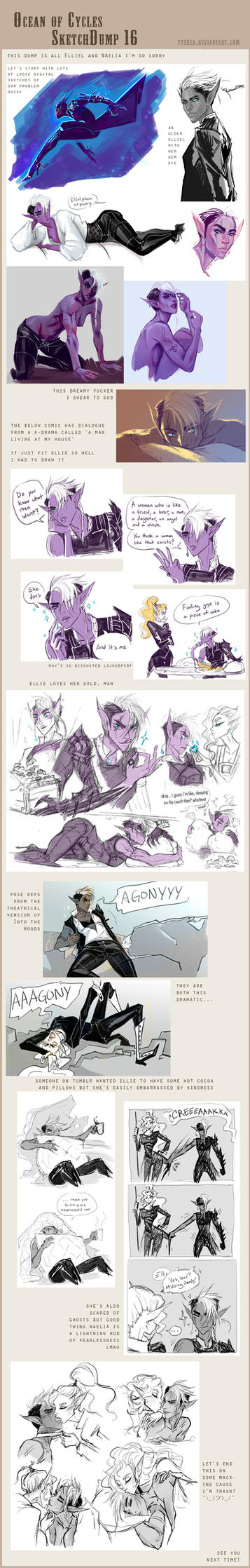 Fantasy Sketchdump 16 by Dyemelikeasunset