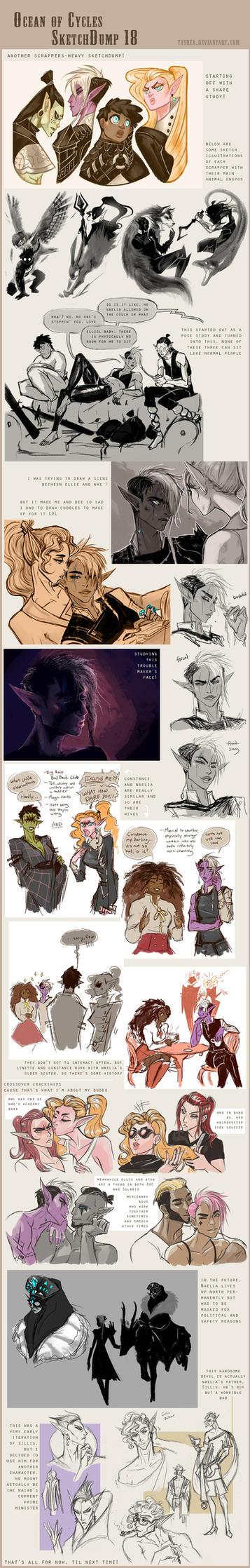 Fantasy Sketchdump18 by Dyemelikeasunset