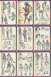 SamSara: 2018 fashion sketches by Dyemelikeasunset