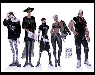 Some Goths by Dyemelikeasunset