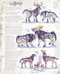 Northern Bestiary: Wargs by Dyemelikeasunset