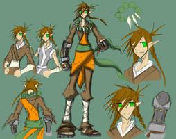 Character sheet 4: Inune by Dyemelikeasunset