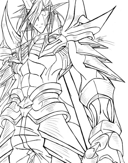 Demon King Anime Drawing Sketch Coloring Page