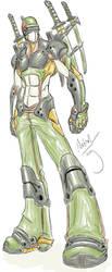 Army Ninja Cyborg Dude by Dyemelikeasunset