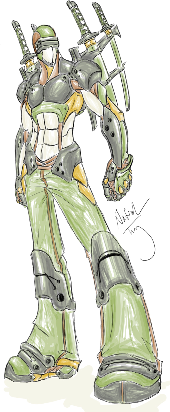 Army Ninja Cyborg Dude by Tyshea