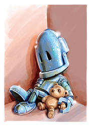 Robot and his teddy (2013)