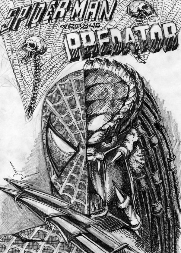 Spider-man vs. Predator cover by cm023 on DeviantArt