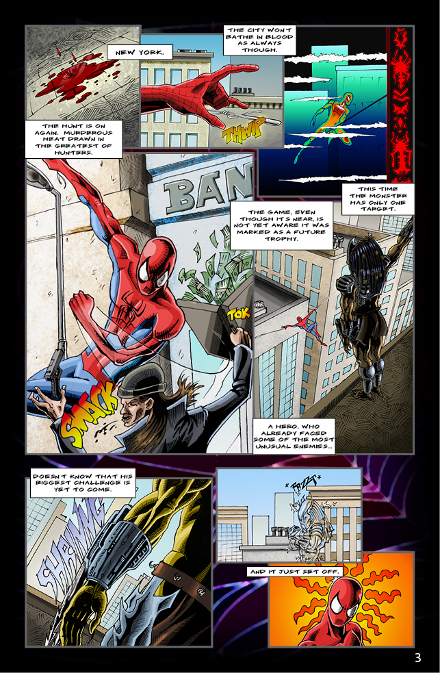 Spider-man vs. Predator page 1 by cm023 on DeviantArt