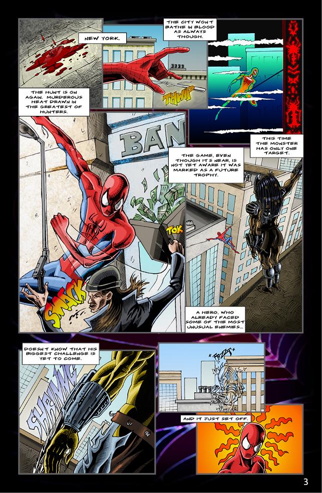 Spider-man vs. Predator page 1 by cm023 on DeviantArt