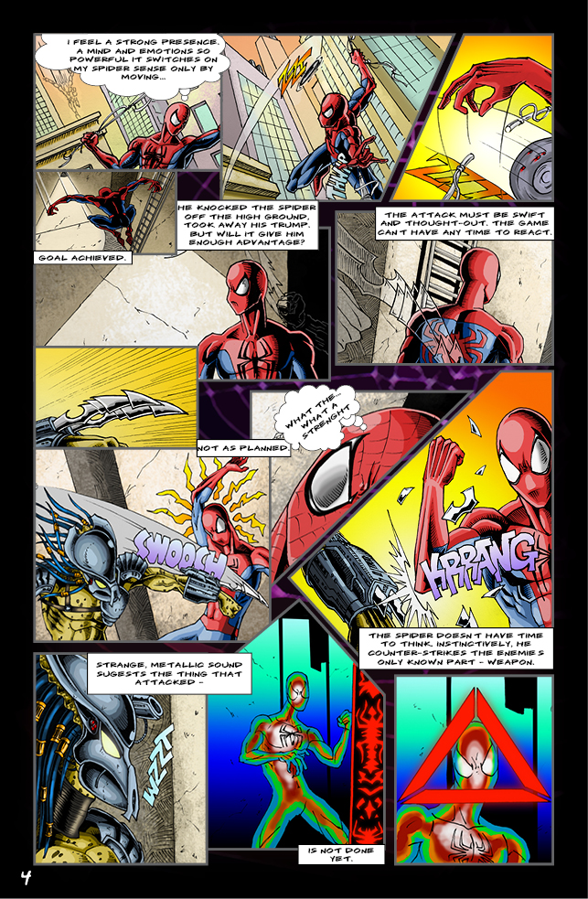 Spider-man vs. Predator page 2 by cm023 on DeviantArt