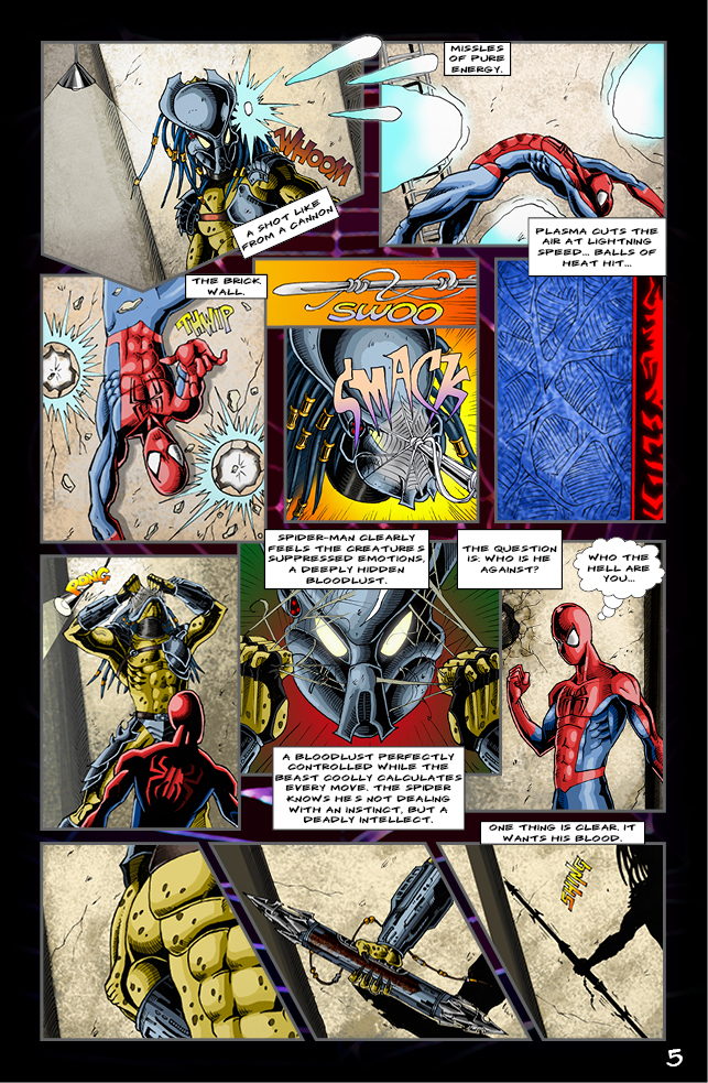 Spider-man vs. Predator page 3 by cm023 on DeviantArt