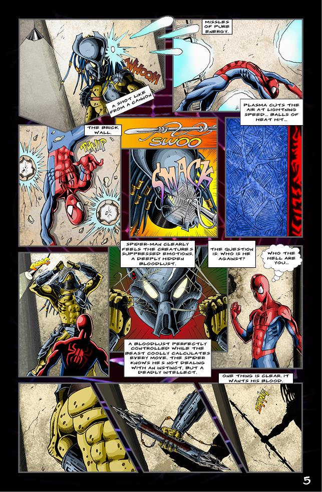 Spider-man vs. Predator page 3 by cm023 on DeviantArt