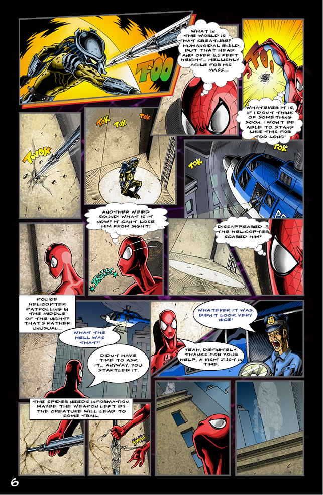 Spider-man vs. Predator page 4 by cm023 on DeviantArt
