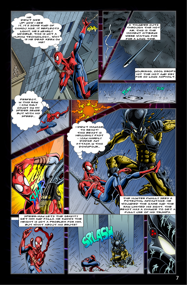 Spider-man vs. Predator page 5 by cm023 on DeviantArt