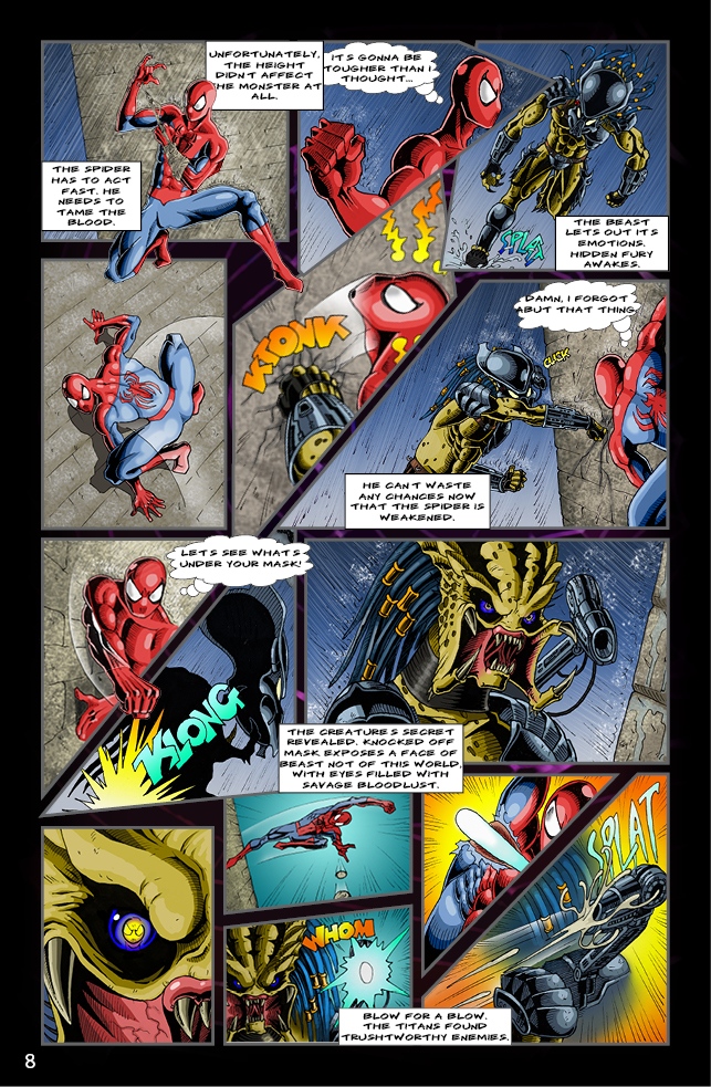 Spider-man vs. Predator page 6 by cm023 on DeviantArt