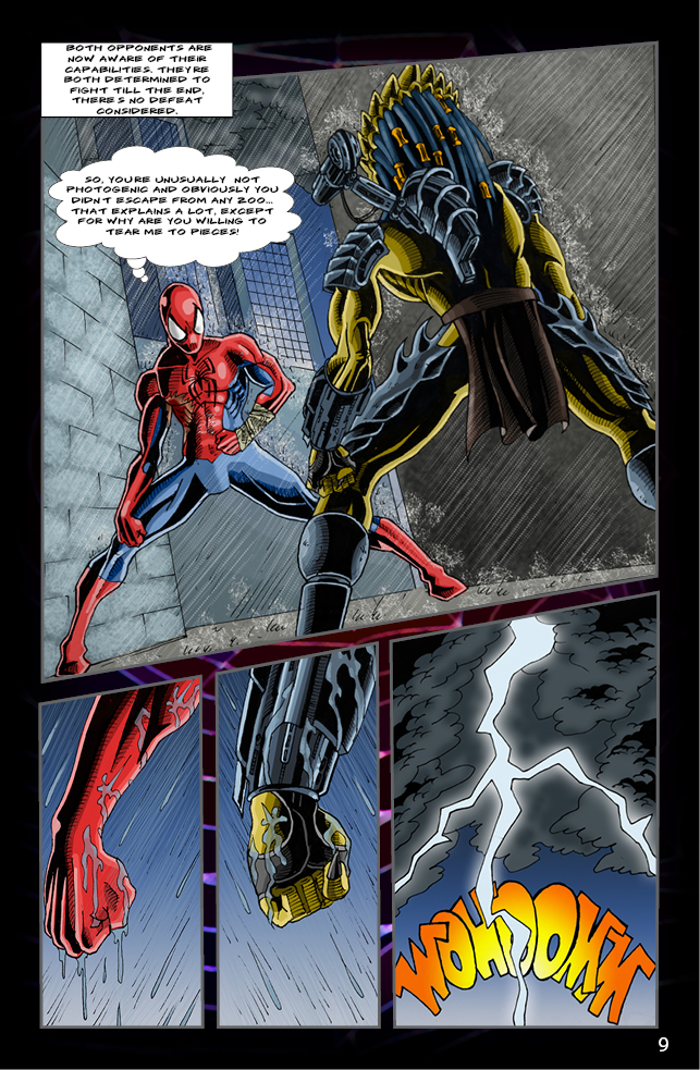 Spider-man vs. Predator page 7 by cm023