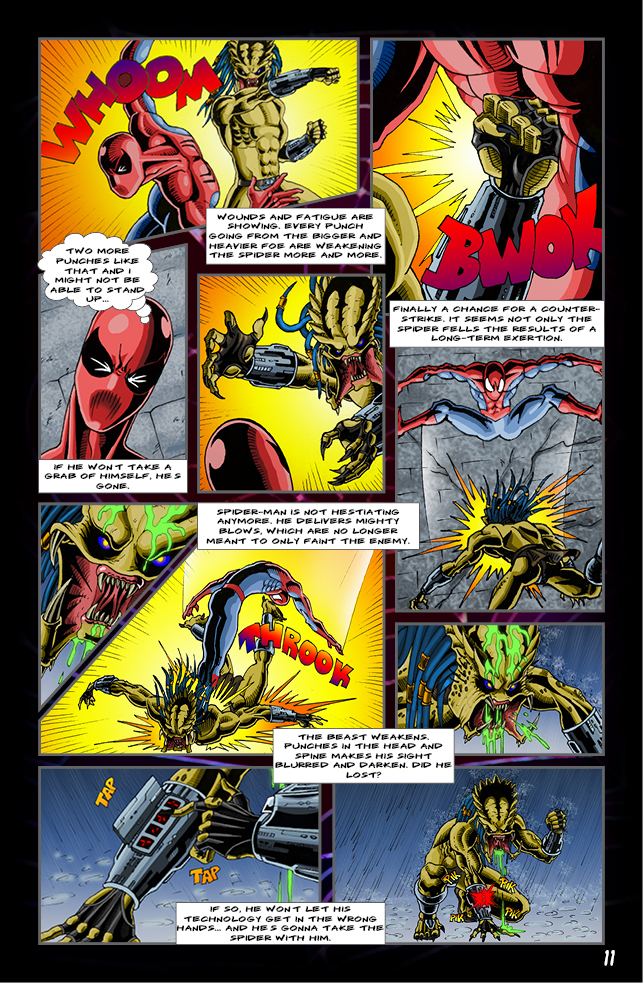 Spider-man vs. Predator page 9 by cm023 on DeviantArt