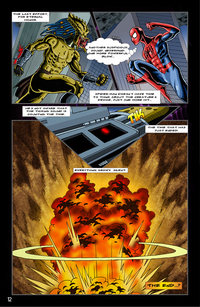 Spider-man vs. Predator page 10 by cm023 on DeviantArt