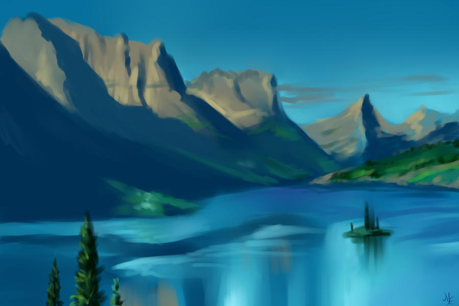 Lake by PackRatTheArtist