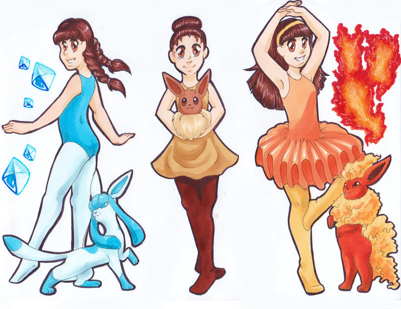 Briana the Eevee trainer by Brierose