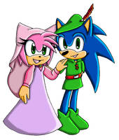 amy and sonic_Robin Hood by ASB-Fan