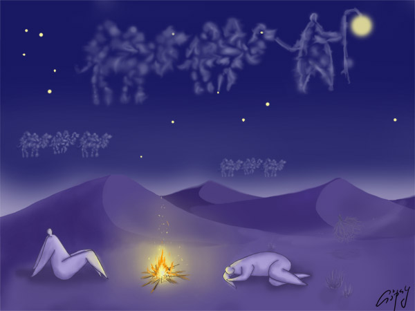 Night Caravan by hellgus