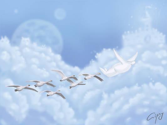 Migrant birds+Threemen series+