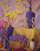 Composition in Gold and Violet by uhlrik