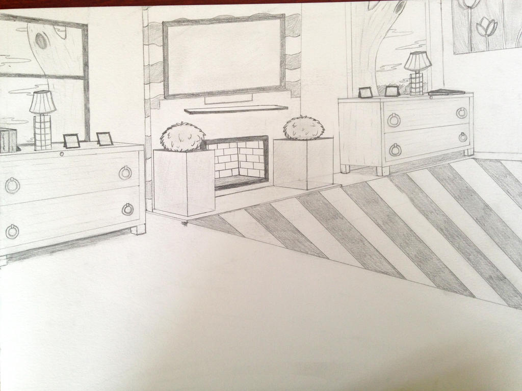 Bedroom two point perspective by lunar ang3l on deviantart for Bedroom 2 point perspective