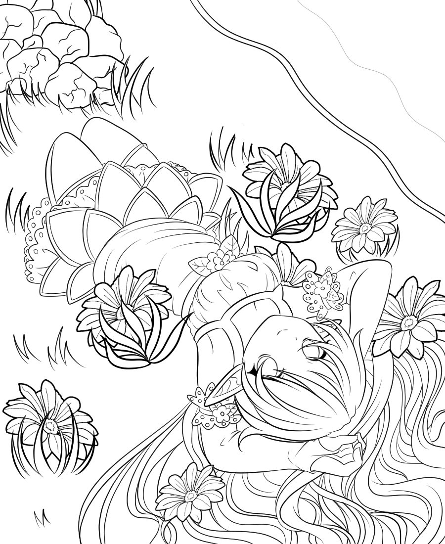 Elf Coloring Page by NyxoftheNight12 on DeviantArt