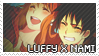 Luffy x Nami Stamp by Euffa