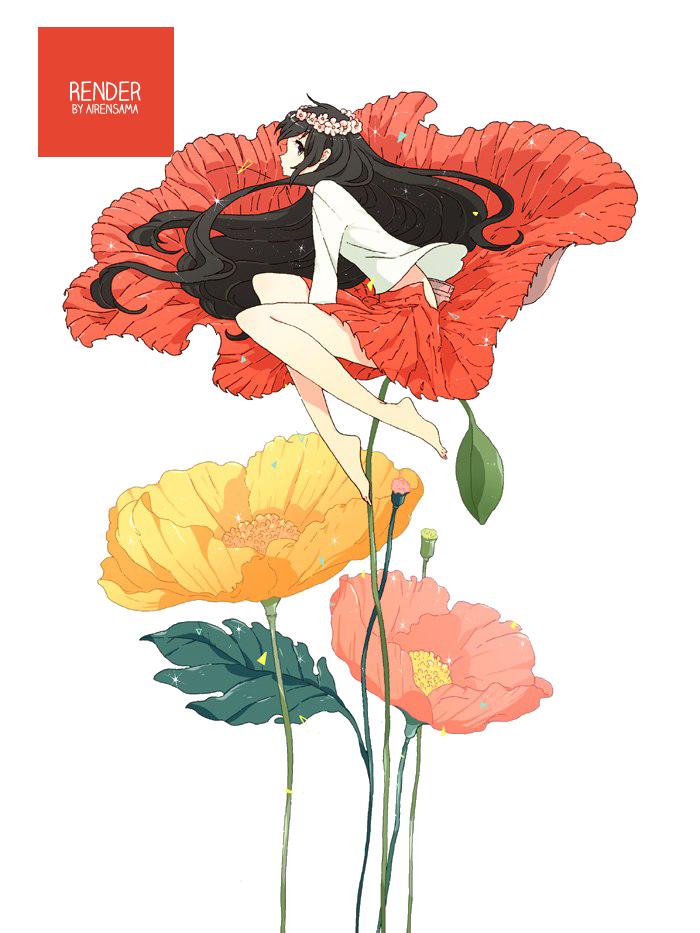 ~30 Renders~ Flower_by_airensama-d7pxoji