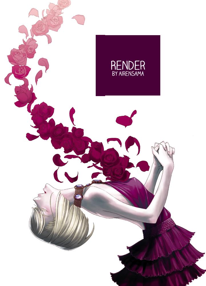 130 renders mangaaa Flower_render_by_airensama-d8hsa4a