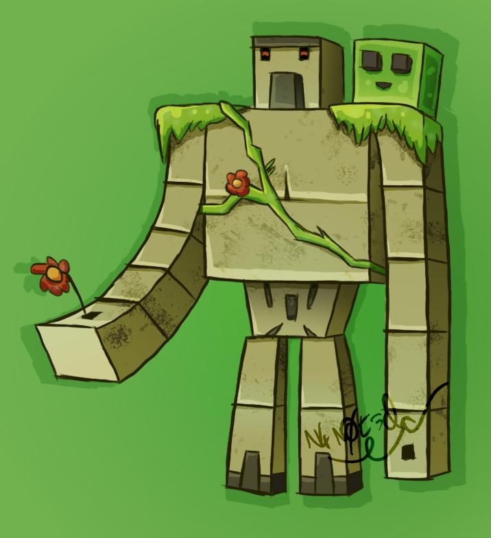 Golem de fer iron golem by n4n0t3ck on deviantart - Minecraft golem de fer ...